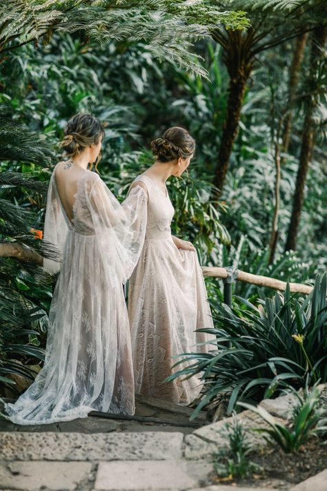 Intimate Sydney Wedding At Wendy& Secret Garden as our two brides, dressed in stunning romantic gowns elope. Robyn Pattison officates the garden wedding. Wedding Goals, Dream Wedding, Wedding Menu, Lesbian Wedding Photography, Two Brides, Sydney Wedding, Garden Cottage, Garden Wedding, Getting Married