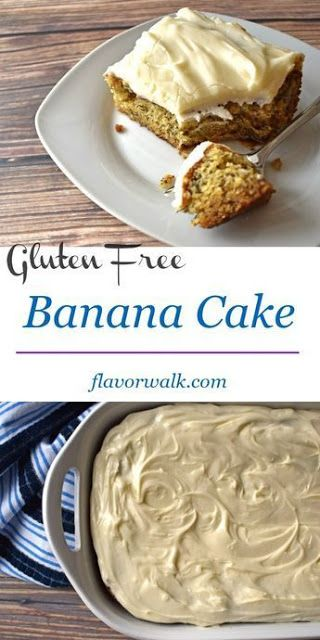 Gluten Free Banana Cake With Cream Cheese Frosting Cooking