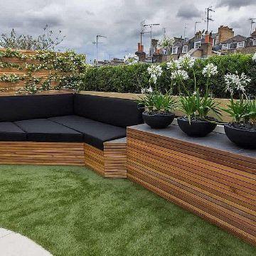 Decoracion E Ideas De Terrazas Economicas 2020 En 2020 Diseno De Terraza Jardines Verticales Techos Jardin