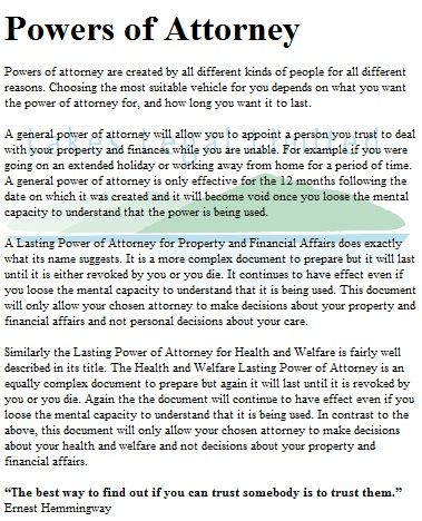 Washington General Durable Power of Attorney Form Estate Pinterest - special power of attorney form