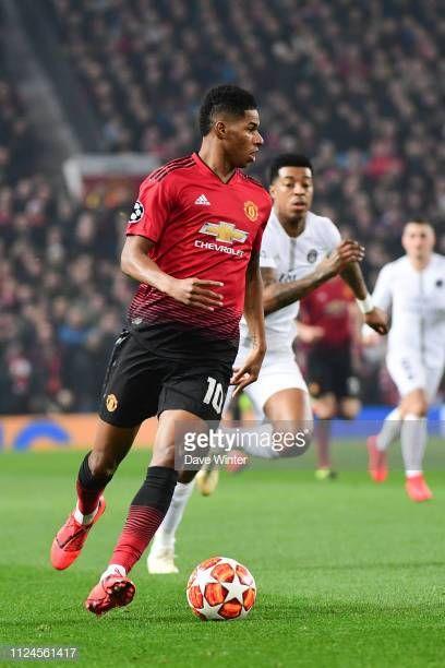 Marcus Rashford Of Man Utd During The Uefa Champions League Round Of 16 First Leg Match Between Manchest Uefa Champions League Champions League Marcus Rashford