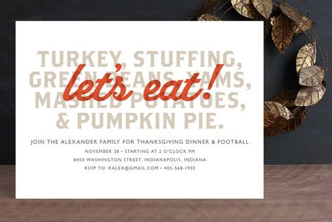 Let's Eat Holiday Party Invitations by root beer float at minted.com
