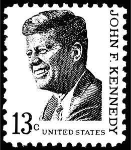 President Kennedy Face Stamp Vector Illustration Publicdomainvectors Org President Kennedy Face Stam In 2020 Black And White Illustration Stamp Printing Illustration