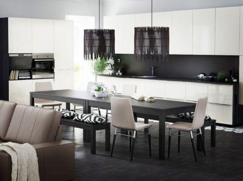 La cuisine noire et blanche plus contemporaine que jamais ...