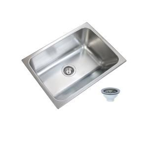 Ukinox 24 In X 18 In Single Bowl Stainless Steel Laundry Sink