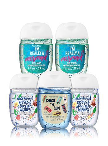 Seas The Day 5 Pack Pocketbac Hand Sanitizers Bath And Body