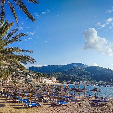 Der Strand Von Port De Soller Mallorca Majorca Mallorca