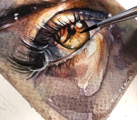 Pintura em Aquarela por Pêssego Úmido - Arte no Papel Online