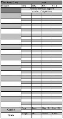 Printable Workout Log  Projects To Try    Workout Log