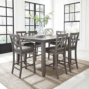 Wilmington 7 Piece Counter Height Dining Set Counter Height Dining Sets Counter Height Dining Room Tables Dining Set
