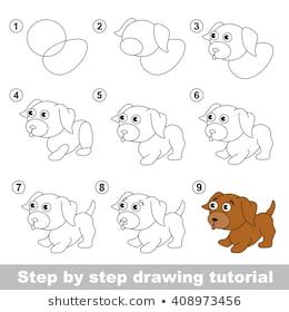 Raster Copy Step By Step Drawing Tutorial Visual Game For Kids