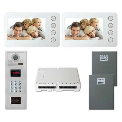 Ad Ebay Home Entry Access Security Video Intercom System Kit With 2 5 Color Monitors Entry Doors Home Security