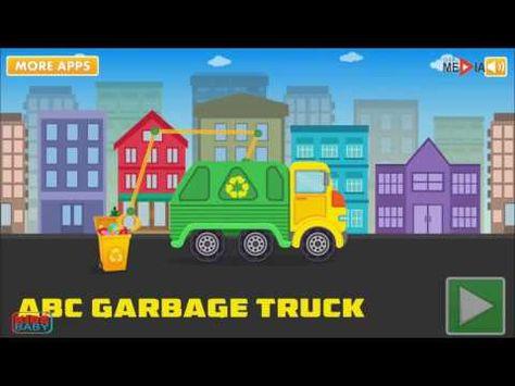 Camion Poubelle Abc Jeux Enfant Voiture Dessin Animé