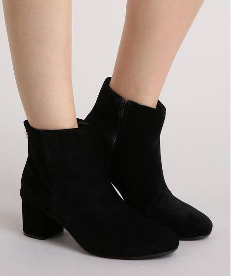 Zíper com botins lateral femininos