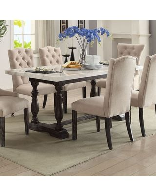 Acme Furniture Acme Furniture Gerardo 72 In Rectangular Marble Dining Table From Hayneedle Bhg Com Shop Dining Room Table Marble Dining Table Marble Espresso Dining Tables