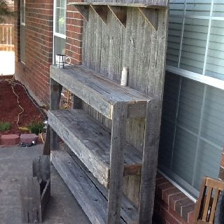 A Bench Made From An Old Fence Hmmm I Have An Old Fence Love