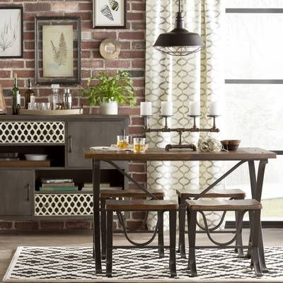 Tanner 7 Piece Extendable Dining Set Reviews Birch Lane Dining Room Industrial 5 Piece Dining Set Dining Room Design