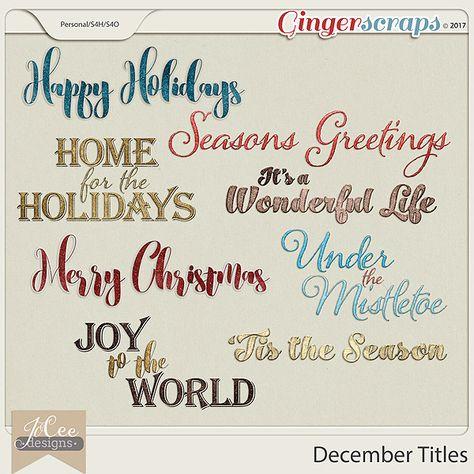 mistletoe Included in the December Title...