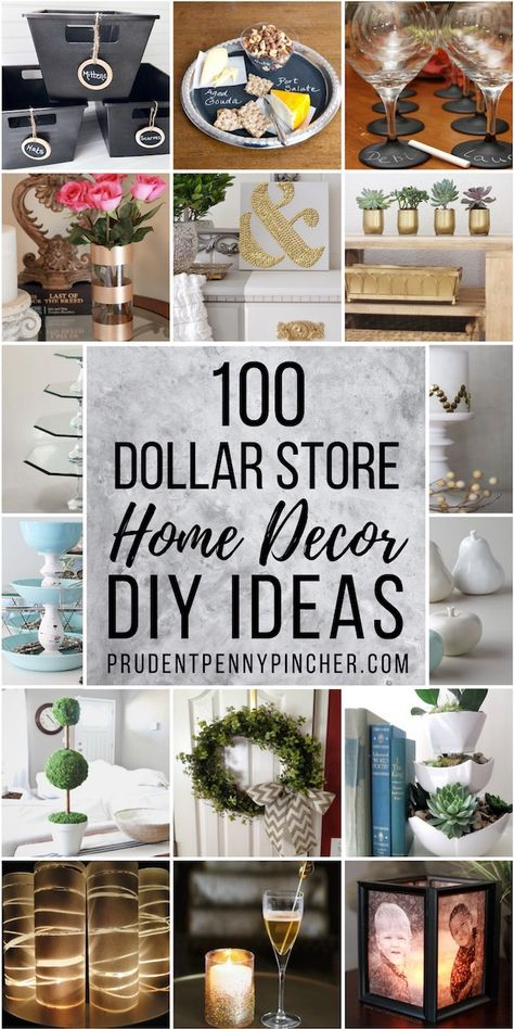 Decorate on a budget with these dollar store DIY home decor ideas. From vases to centerpieces, there are plenty of cheap and creative craft ideas to choose from. #dollarstore #diy #homedecor #diyhomedecor #decor #crafts