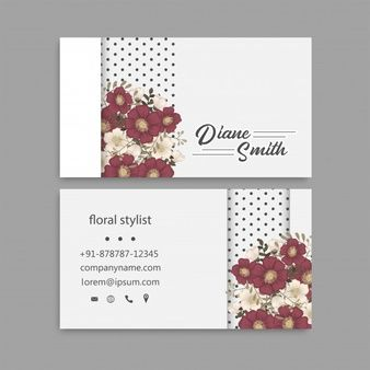 Free Vector Red And White Modern Business Card Template In 2020 Business Card Red White Business Card Design Yellow Business Card