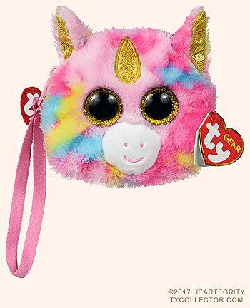 Fantasia the Unicorn TY Beanie Boo Wristlet