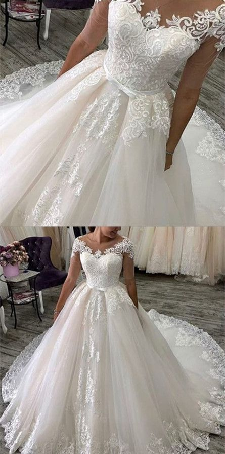 W111 Ball Gown Wedding Dresses With Long Train Wedding Dress Custom Made Wedding Gown From Fancygirldress Long Train Wedding Dress Wedding Dress Train Ball Gowns