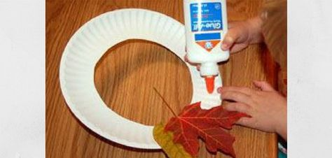 cute idea, making a fall leaf wreath with kids @ crafts for all seasons