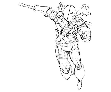 Deathstroke Printable For The Kiddies To Colour Coloring Pages