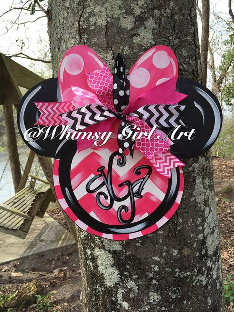 Minnie Mouse Door Hanger by WhimsyGirlArt on Etsy