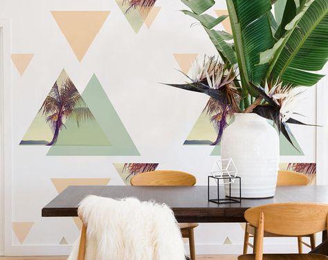 decals Palms Composition Wallpaper -...