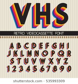This Was Inspired By The 90s The Bold Colors Pink Yellow And Blue Created A Vibrant And Funky Pattern Which Lettering Retro Typography Lettering Alphabet