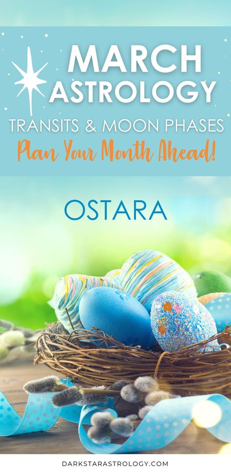 Ways to celebrate Ostara. Plan your month ahead with my transit and moon phases planner with links to the important planetary aspects of the month. This month I look at the Spring equinox horoscopes and the meaning of Ostara.
