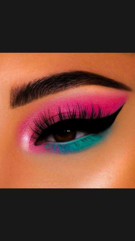 Red Eyeshadow Makeup, Summer Eyeshadow, Soft Eye Makeup, Bright Eye Makeup, Dramatic Eye Makeup, Eye Makeup Steps, Hooded Eye Makeup, Colorful Eye Makeup, Green Eyeshadow