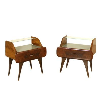 Bedside Tables By Osvaldo Borsani 1940s Set Of 2 For Sale At