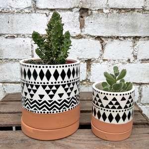 Scandi Boho Indoor Mini Little Flower Plant Planter Pot Set of 3