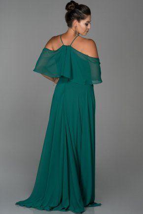 Zumrut Yesili Sifon Buyuk Beden Abiye Elbise Abu470 Elbise Moda Stilleri Elbise Modelleri