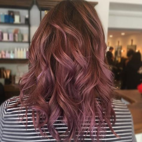 Calling all brunettes! Opt for this chocolate-mauve color to switch up those gorgeous dark locks.