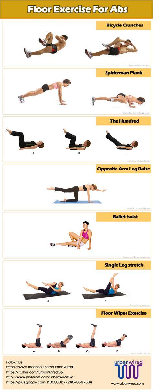 Amazing 6 Best Floor Exercises For Abs | Floor Exercises, Ab Exercises And Exercise