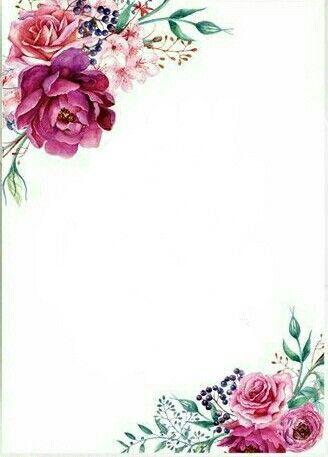 Uploads Canva Floral Invitation Flower Backgrounds Floral Border Design