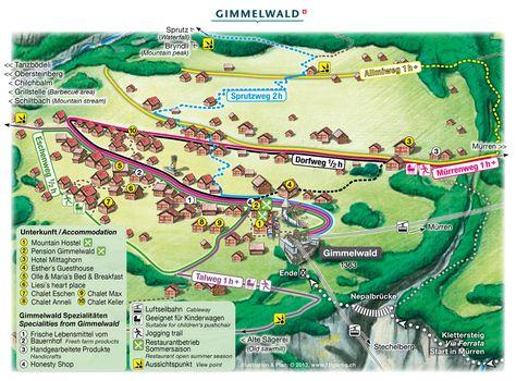 Pinterest Gimmelwald Map on eiger map, schaffhausen map, hook of holland map, montreux map, verbier map, grosse scheidegg map, st. moritz map,