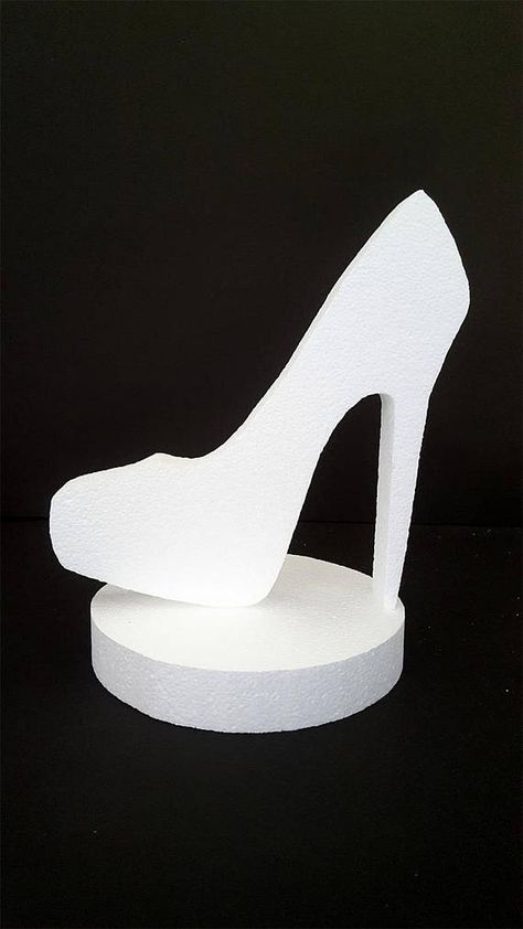 8d9c12c8a623e High heel shoe centerpiece,styrofoam shoe, cut out Stiletto ,DIY ...