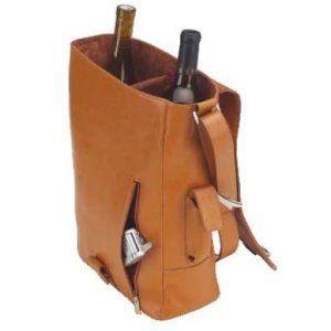 Elegance 2 Bottle Leather Wine Carrier Leather Wine Carrier Leather Wine Tote Wine Purse