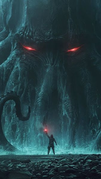 Fantasy Monster Cthulhu 4k 3840x2160 Wallpaper Dark Fantasy Art Cthulhu Art Fantasy Landscape