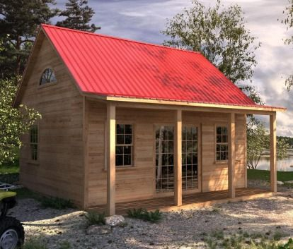 16 X 20 Invermere Cabin 6821 In 2020 Cabins And Cottages Prefab Cabin Kits Log Cabin Rustic