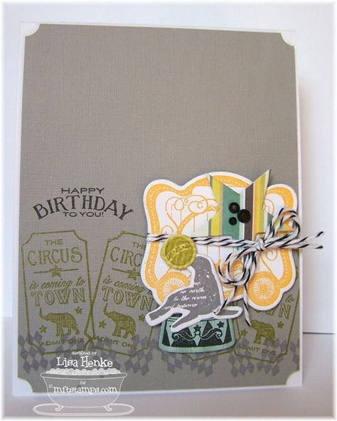 Circus Spectacular Die-namics and Stamp Set - Lisa Henke
