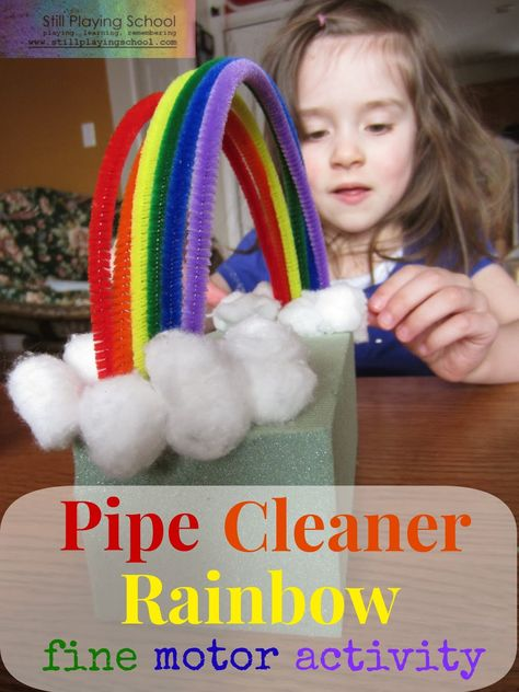 Rebuildable Pipe Cleaner Rainbow Fine Motor Activity from Still Playing School