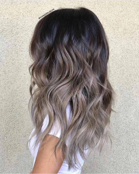 44 The Best Hair Colour Ideas For A Change-Up This Year, Gorgeous Balayage Hair Color Ideas - Blonde ombre hair, Balayage Highlights,Beachy balayage hair color Ombre Hair Long Bob, Blond Ombre, Brunette Color, Brown Blonde Hair, Balayage Brunette, Light Brown Hair, Hair Color Balayage, Balayage Highlights, Ash Balayage