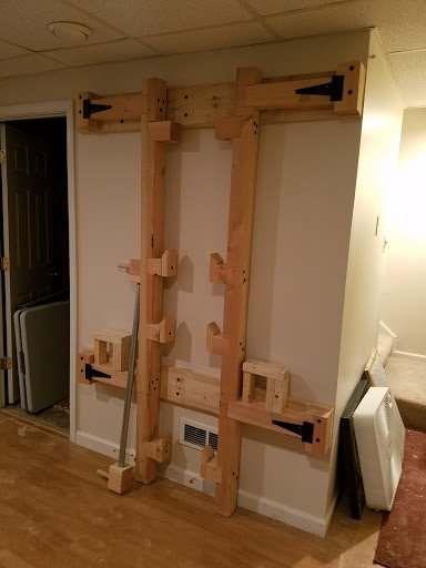wooden power rack diy home gym