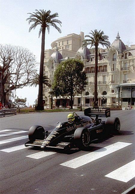 Ayrton Senna king of Monaco