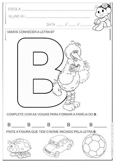 Atividade Educacao Infantil Letra B Com Imagens Atividades